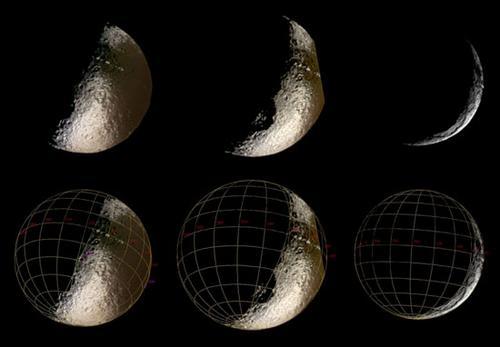 Multiple views of Iapetus