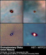 Newly discovered protoplanetary disks