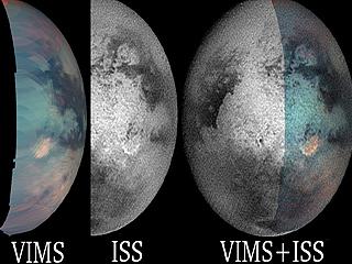 Composite on Titan\'s Bright Spot