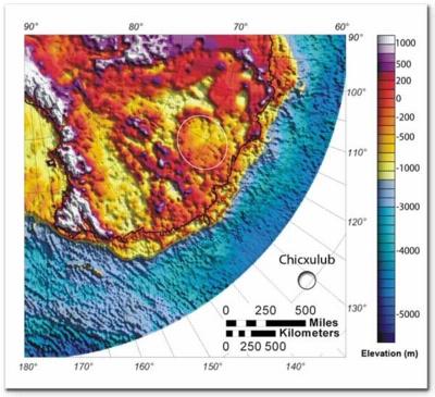 Location of Antarctic crater