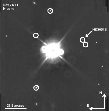 A brown dwarf imaged