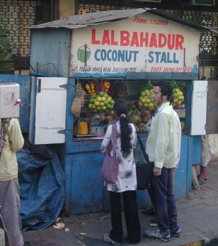 Stalls selling coconuts