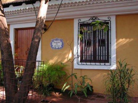 A bright Goan building