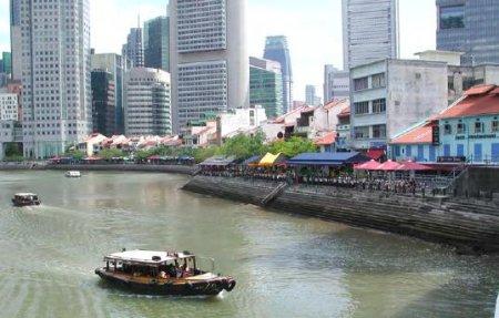 Riverwalk district of Singapore