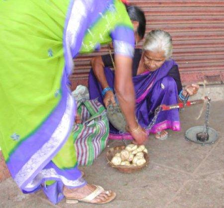 Women outside the marketplace