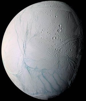 The cracked surface of Enceladus