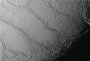 'Tiger stripes' region on Enceladus