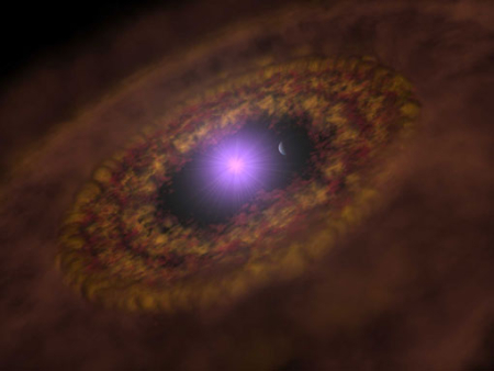 Young planet within a disk