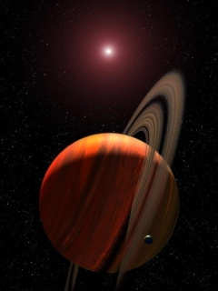 Planet around a red dwarf