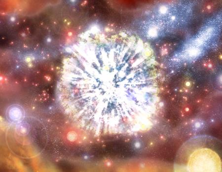 Artist\'s conception of a supernova