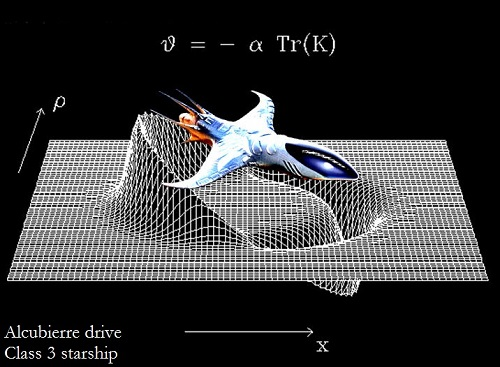 Alcubierre drive spacecraft