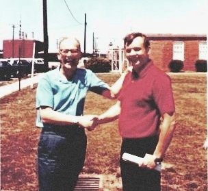 Neil Armstrong and Arthur C Clarke Meet at Converence on Wallops Island, VA No 3 (1)