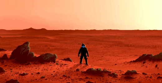 A lone explorer on Mars by Alberto Vangelista