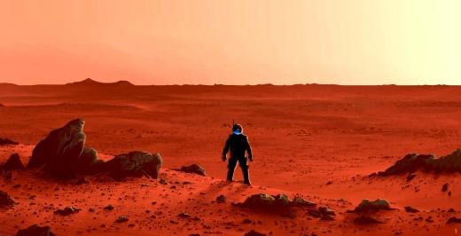 A lone explorer on Mars by Alberto Vangelista